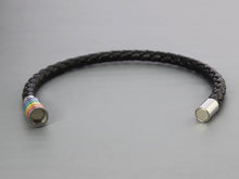 Load image into Gallery viewer, GUNGNEER LGBT Pride Bracelet Rope Chain Stainless Steel Gay Rainbow Jewelry For Men Women