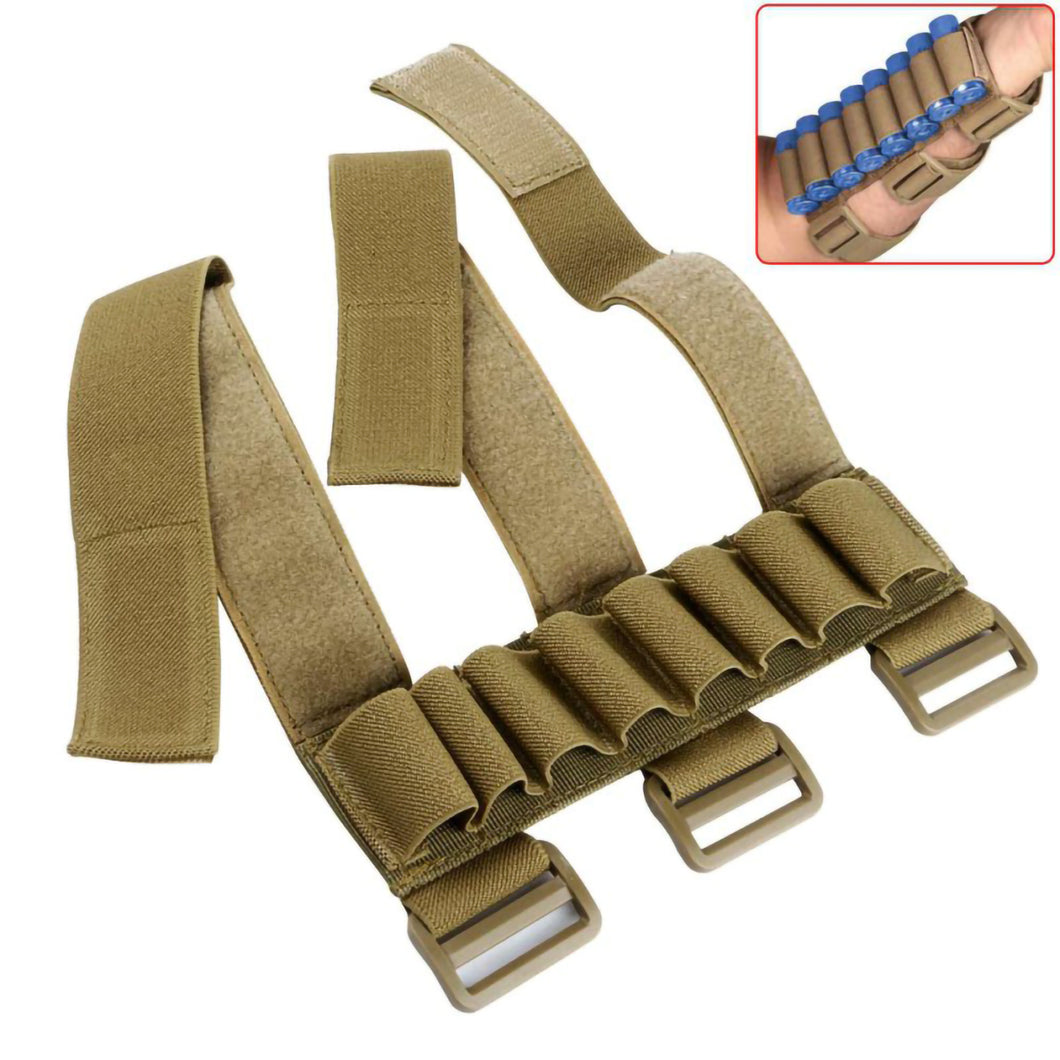 2TRIDENTS 8 Rounds Ammo Arm Pouch - Waterproof Arm Band Case Nylon Hunting Accessories for Hunting, Military, Outdoor Sport and More (A)