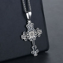 Load image into Gallery viewer, GUNGNEER Stainless Steel Cross Necklace Christian Pendant Jewelry Gift For Men Women