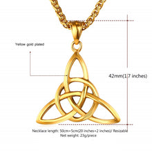 Load image into Gallery viewer, GUNGNEER Celtic Knot Pendant Necklace Irish Bracelet Stainless Steel Jewelry Set Men Women