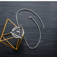 Load image into Gallery viewer, GUNGNEER Illuminati All Seeing Necklace Box Chain Eye Pendant Jewelry For Men