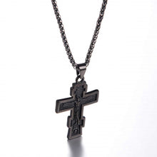 Load image into Gallery viewer, GUNGNEER Stainless Steel Pray Cross Necklace Jesus Pendant Jewelry Gift For Men Women