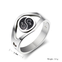 Load image into Gallery viewer, GUNGNEER Stainless Steel Pride Ring LGBT Gay Jewelry Accessory Gift For Men Women