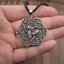 Load image into Gallery viewer, GUNGNEER Celtic Triquetra Trinity Knot Pendant Necklace Stainless Steel Jewelry for Men Women