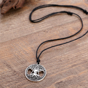 GUNGNEER Wicca Pentagram Celtic Tree of Life Pendant Necklace Viking Axe Bracelet Jewelry Set