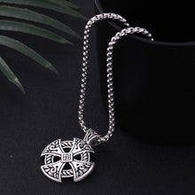 Load image into Gallery viewer, GUNGNEER Celtic Knot Cross Stainless Steel Amulet Pendant Necklace Infinity Bracelet Jewelry Set