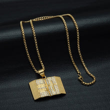 Load image into Gallery viewer, GUNGNEER God Cross Bible Necklace Christian Pendant Chain Jewelry Accessory For Men Women