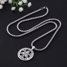 Load image into Gallery viewer, GUNGNEER Triquetra Stainless Steel Trinity Pendant Necklace Infinity Bracelet Jewelry Set