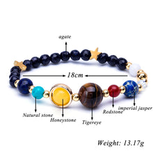 Load image into Gallery viewer, HoliStone Natural Mysterious Starry Planet Stone Lucky Charm Bracelet for Women and Men ? Yoga Meditation Healing Balancing Energy Bracelet