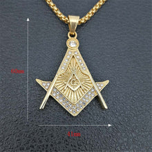 Load image into Gallery viewer, GUNGNEER Freemason Pendant Necklace Stainless Steel Occult Jewelry For Men