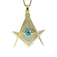 Load image into Gallery viewer, GUNGNEER All Seeing Pendant Necklace Stainless Steel Illuminati Jewelry Accessory For Men