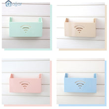 Load image into Gallery viewer, 2TRIDENTS Small Cute Wall Mount WiFi Router Storage Box - WiFi Box Shelf Organizer for Household (Blue)