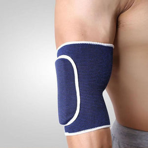 2TRIDENTS Sport and Fitness Elbow Knitted Thick Sponge Basketball Crash Support Brace Pads Elbow Support