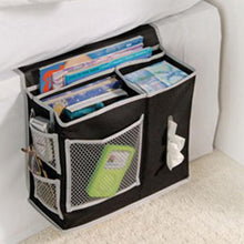 Load image into Gallery viewer, 2TRIDENTS Bedside Sofa Organizer Storage Bag for Hanging Sundries, Magazines, Books and Phone