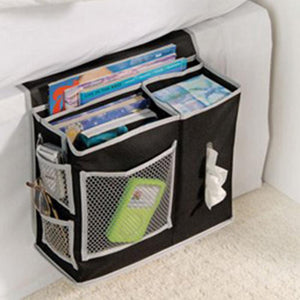 2TRIDENTS Bedside Sofa Organizer Storage Bag for Hanging Sundries, Magazines, Books and Phone