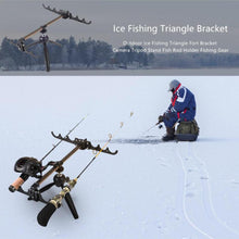 Load image into Gallery viewer, 2TRIDENTS Winter Aluminum Alloy Portable Folding Fishing Rod Camera Tripod - Suitable for Different Types of Fishing Rods