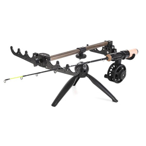 2TRIDENTS Winter Aluminum Alloy Portable Folding Fishing Rod Camera Tripod - Suitable for Different Types of Fishing Rods