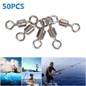 2TRIDENTS Stainless Steel Ball Bearing Swivel Connector Barrel Swivels Fishing (3)