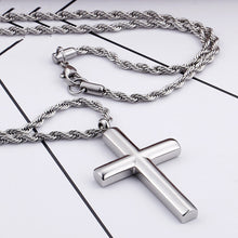 Load image into Gallery viewer, GUNGNEER Christian Pendant Necklace Cross Jewelry Accessory Outfit Gift For Men Women