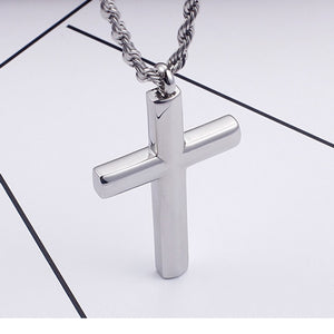 GUNGNEER Christian Pendant Necklace Cross Jewelry Accessory Outfit Gift For Men Women