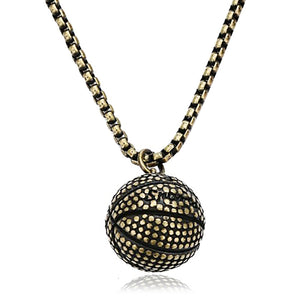 GUNGNEER Stainless Steel Hip Hop Basketball Necklace Sports Necklaces For Boys Girls