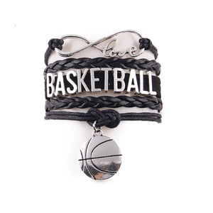 GUNGNEER Basketball Bracelet Multilayer Mom Ball Sports Accessories For Boys Girls