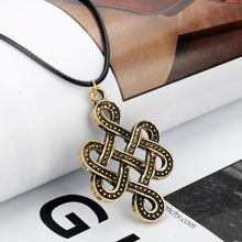 Load image into Gallery viewer, GUNGNEER Celtic Knot Irish Infinite Scandinavian Pendant Necklace Stainless Steel Jewelry