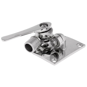 2TRIDENTS Marine Stainless Steel Ratchet Rail Mount - Special Cable Slot Eliminates Removal of Most Factory-Installed Connectors