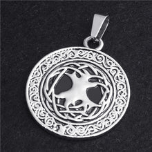 Load image into Gallery viewer, GUNGNEER Irish Tree of Life Pendant Necklace Stainless Steel Bracelet Jewelry Set Men Women