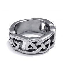 Load image into Gallery viewer, GUNGNEER Stainless Steel Celtic Knot Ring with Cross Necklace Jewelry Accessories Set Men Women