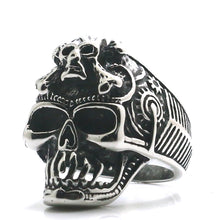Load image into Gallery viewer, GUNGNEER 2 Pcs Stainless Steel Egyptian Pharaoh Skull Ring Jewelry Set Accessories Men Women