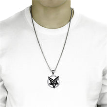 Load image into Gallery viewer, GUNGNEER Men's Satan Baphomet Necklace Devil Goat Head Leviathan Ring Jewelry Set