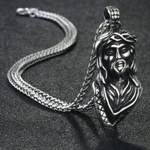 Load image into Gallery viewer, GUNGNEER Stainless Steel Christ Cross Pendant Necklace Jesus Jewelry Outfit For Men Women