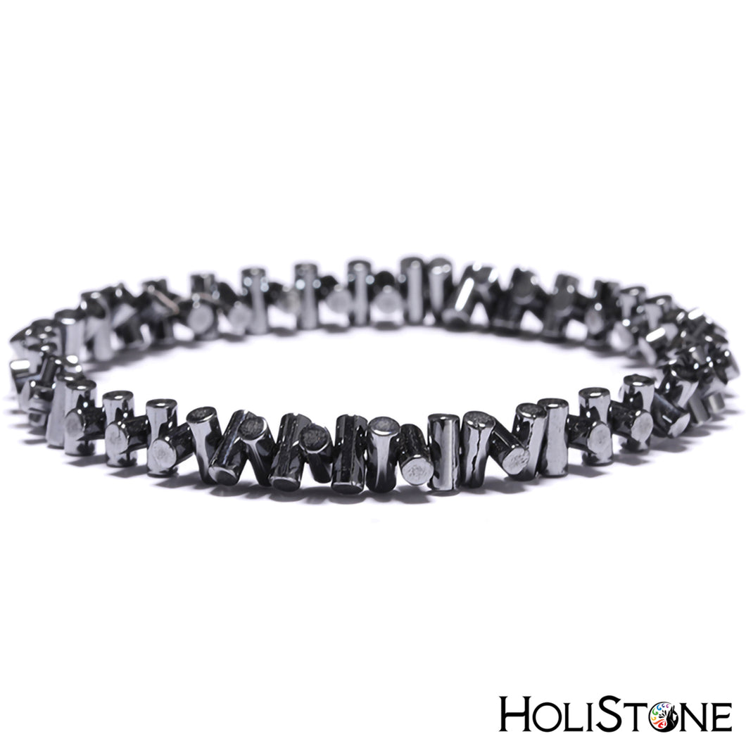HoliStone Hematite Lucky Charm Bracelet for Men and Women