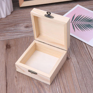 2TRIDENTS Natural Wood Jewelry Storage Pencil Case DIY Craft for Storing Jewelry Treasure Pearl Home Decor (3)