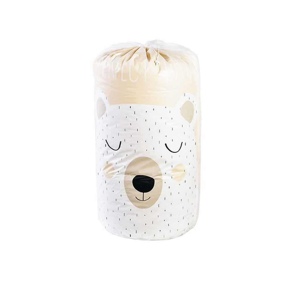 2TRIDENTS Panda Printed Quilt Clothes Storage Bag for Clothes, Blankets, Closets, Bedrooms (Bear)