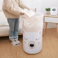 Load image into Gallery viewer, 2TRIDENTS Panda Printed Quilt Clothes Storage Bag for Clothes, Blankets, Closets, Bedrooms (Bear)