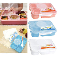 Load image into Gallery viewer, 2TRIDENTS Five-part Microwave Lunch Box Food Storage for Children School Office Picnic Camping (Blue)