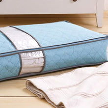 Load image into Gallery viewer, 2TRIDENTS 2 Pcs Non-Woven Under Bed Storage Bag Closet, Shelves for Clothes, Pillow, Blankets (Blue)