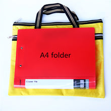 Load image into Gallery viewer, 2TRIDENTS Mini Document Storage Bag 14.6x11.8inches Waterproof Durable Easy Carry Folder Office (Black)