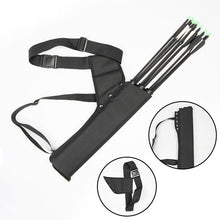 Load image into Gallery viewer, 2TRIDENTS Outdoor General Hunting Recurve Bow Arrow Bag Arrow Quiver Tube Arrow Holder Portable Back (Black)