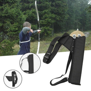 2TRIDENTS Outdoor General Hunting Recurve Bow Arrow Bag Arrow Quiver Tube Arrow Holder Portable Back (Black)