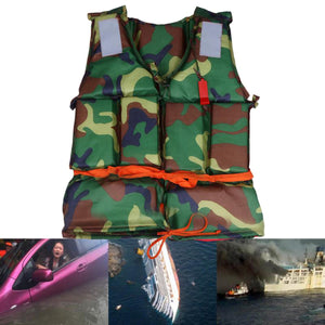 2TRIDENTS Outdoor Camouflage Swimming Life Jacket Vest for Jet Ski, Boating, Surfing, Sailing, Windsurfing, Fishing, and Other Water Entertainment