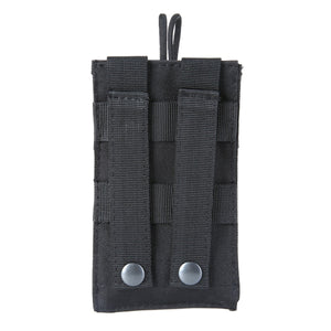 2TRIDENTS Outdoor Tactical Radio Case Holder Holster Walkie Talkie Holster Adjustable Molle Pouch Open Top Magazine M4 Mag Pouch New (2)