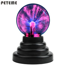 Load image into Gallery viewer, 2TRIDENTS Plasma Ball Magic Moon Lamp USB Electrostatic Sphere Light Bulb Touch Novelty Project Home Decoration (Red)