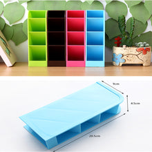 Load image into Gallery viewer, 2TRIDENTS School Desk Pen Caddy Organizer for Teachers, Students, Teens & Children in The School Classroom Or Teacher's Desk. (Blue)