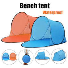 Load image into Gallery viewer, 2TRIDENTS Portable Outdoor Waterproof Camping Beach Picnic Tent Pop Up Open Camping Tent Fishing Hiking Automatic Instant Travel Tent (Blue)