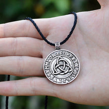 Load image into Gallery viewer, GUNGNEER Celtic Triquetra Knots Viking Runes Trinity Pendant Necklace Stainless Steel Jewelry