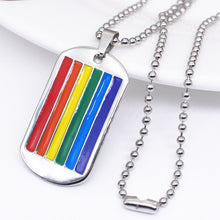 Load image into Gallery viewer, GUNGNEER Pride Dog Tag Necklace Stainless Steel LGBT Lesbian Gay Jewelry For Men Women