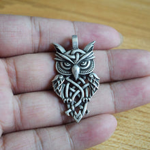 Load image into Gallery viewer, GUNGNEER Celtic Trinity Knot Owl Amulet Pendant Necklace Cross Wings Key Chain Jewelry Set